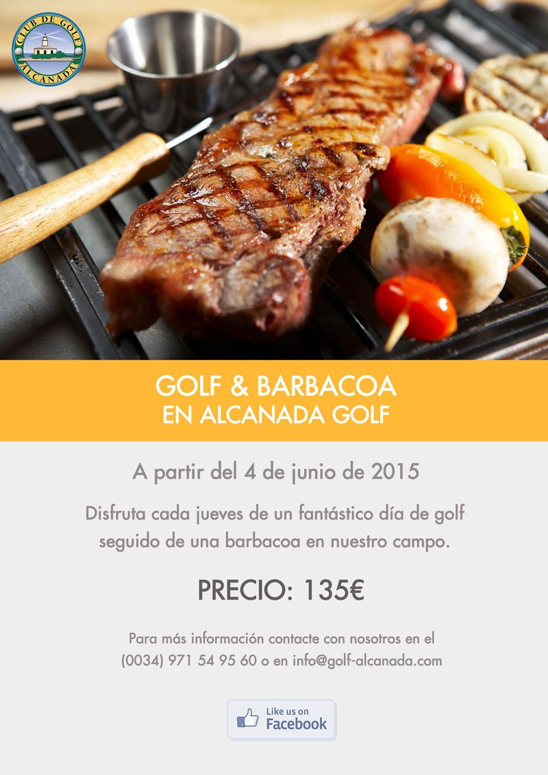 GOLF & BARBACOA EN ALCANADA GOLF