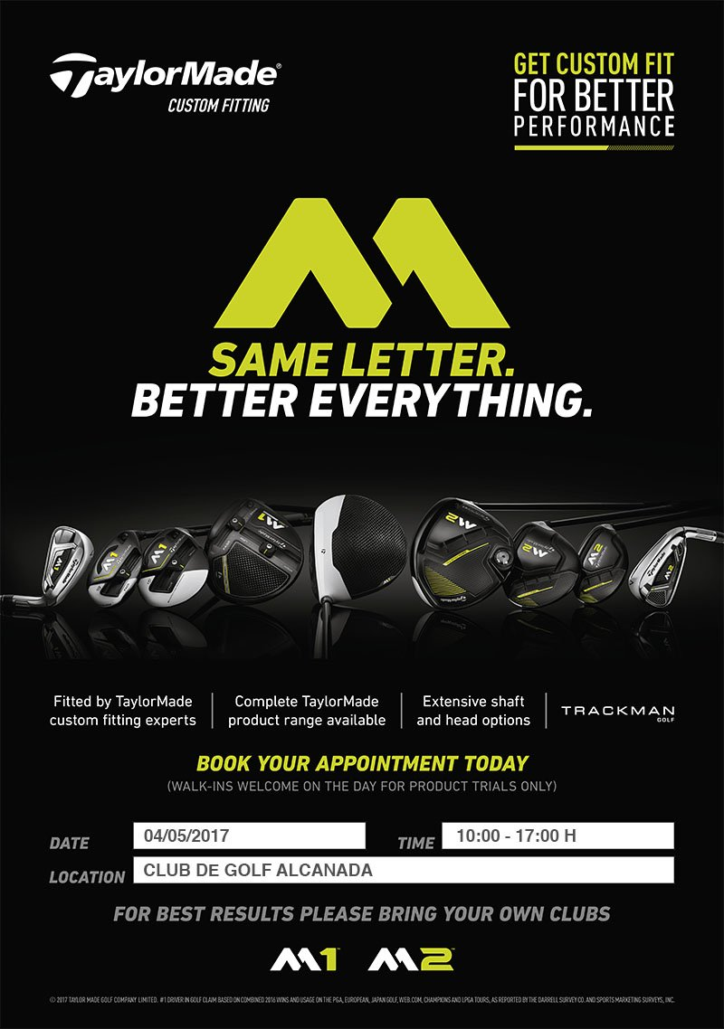 NEXT TAYLORMADE FITTING AT ALCANADA GOLF