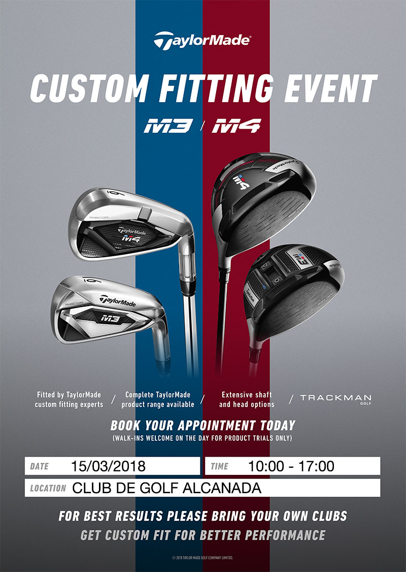 NEW TAYLORMADE FITTING AT ALCANADA